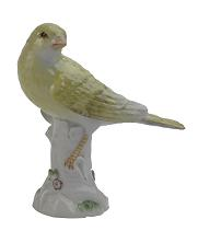Meissen Porcelain Bird Figurine - Canary
