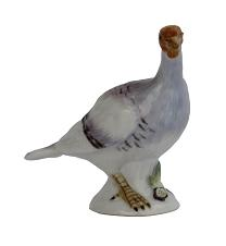 Meissen Porcelain Bird Figurine - Turkey Small