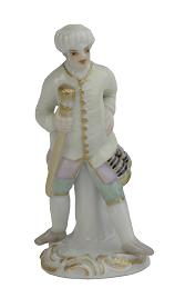 Meissen Porcelain Figurine - Chess Figure, Yellow Coat