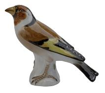 Meissen Porcelain Bird Figurine - Goldfinch