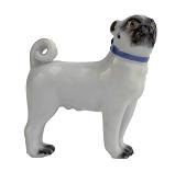 Meissen Porcelain Dog Figurine - Pug Dog
