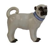 Meissen Porcelain Dog Figurine - Pug Looking Right I