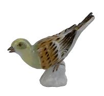 Meissen Porcelain Bird Figurine - Yellowhammers